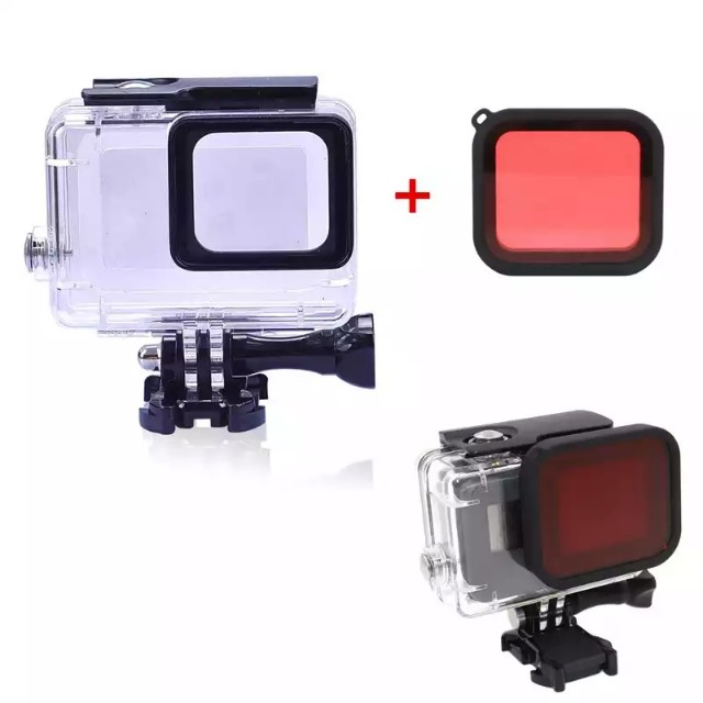 a8ad71c551b9 45m diving case GoPro Hero 5 6 7 8 + red filter [free screen protector]