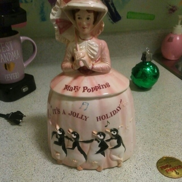 55yrs old. Mary poppins cookie jar. Goes for 450.00 on ebay