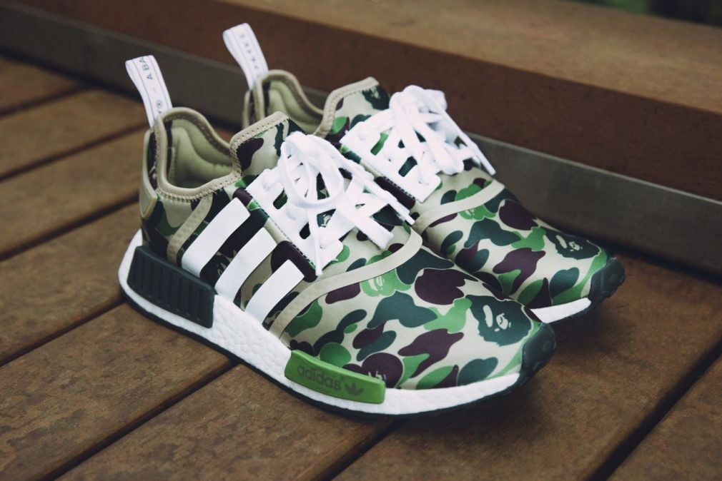 2534bc6a8c90b Adidas NMD R1 BAPE Camo Green 100% Authentic
