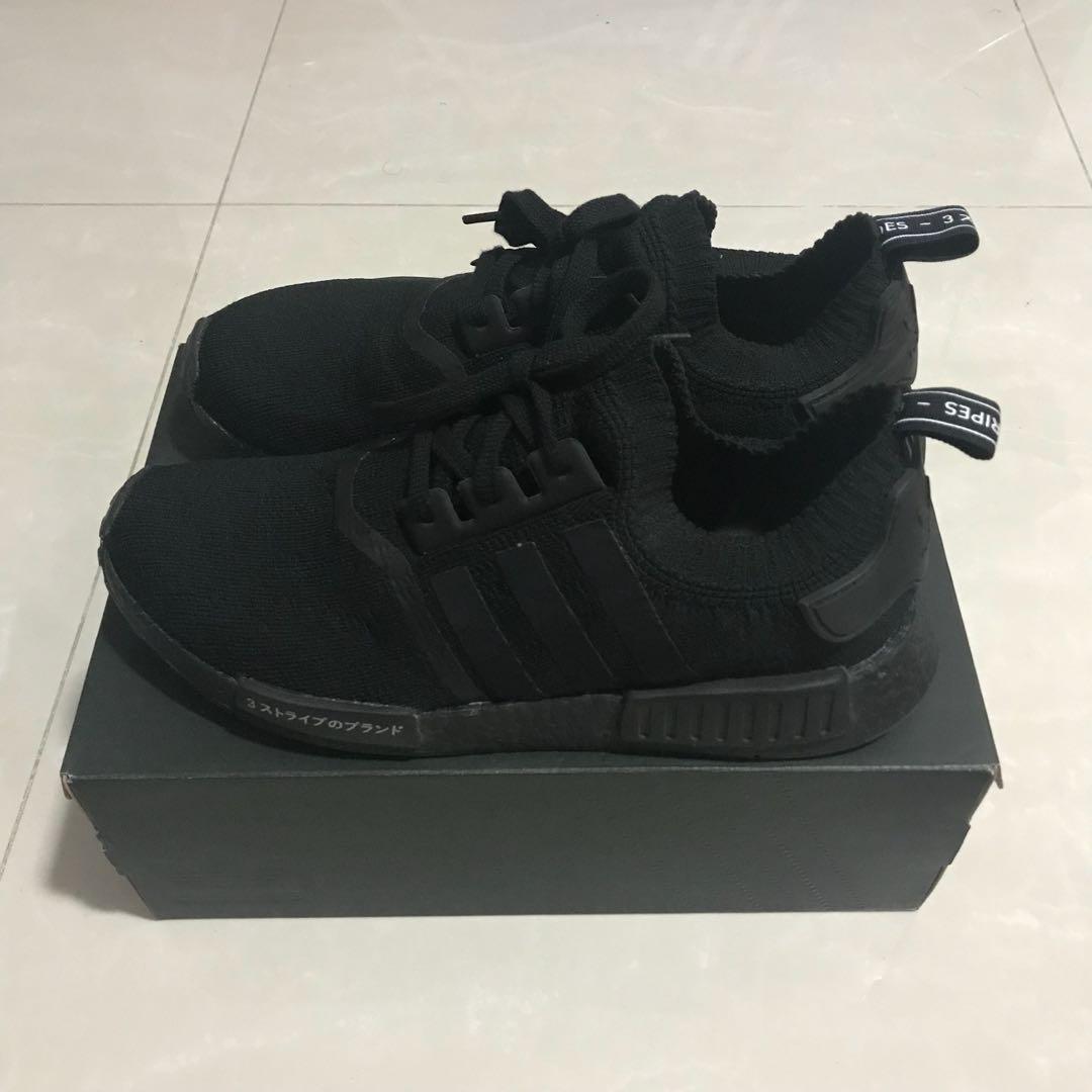 "save off fed46 b64d5 Adidas NMD R1 PK ""Triple Black Japan"" US 10.5"