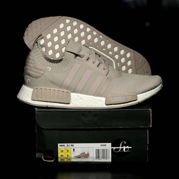 Adidas Originals NMD Japan Pack French Beige   Vapour Grey Limited Edition  Primeknit Sneakers 862c62a61