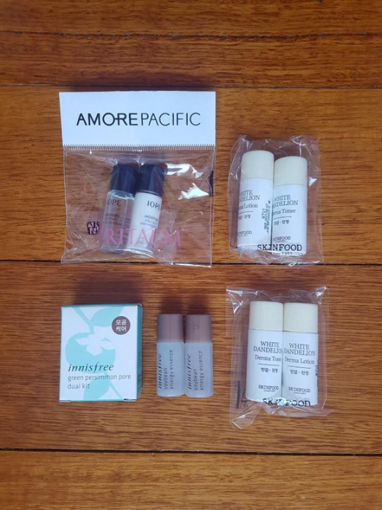 Assortment of Korean Skincare Samples