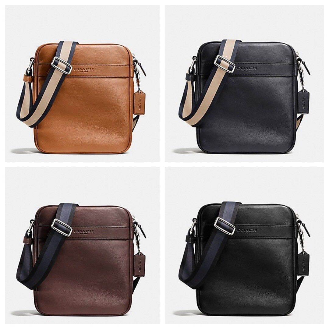 Authentic Coach F71723 F54782 Flight Bag In Smooth Leather Crossbody ... ed63c77835