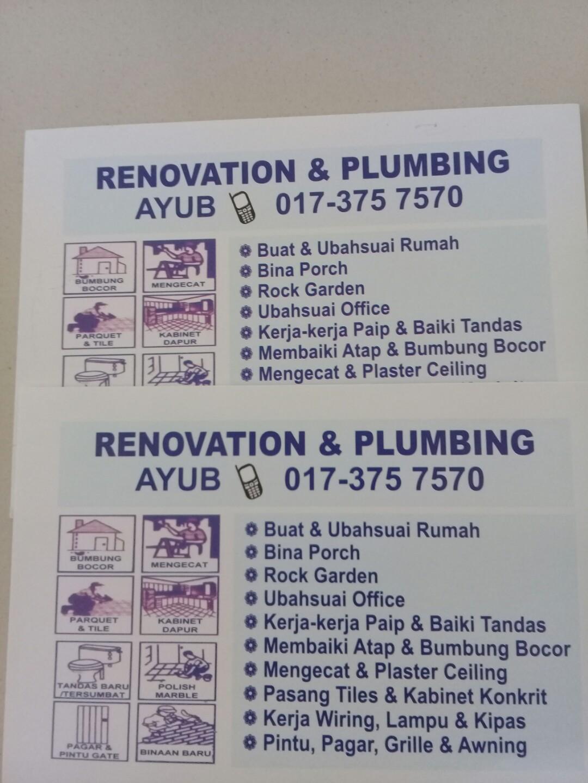 Ayub Contractor Area Bandar Tasik Puteri 0173757570 Services Home Wiring Lampu Rumah Renovations Di Carousell