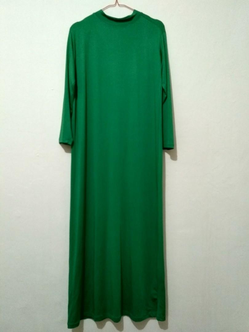 Baju Gamis Model Brukat Warna Hijau 1 Set Women S Fashion Muslim