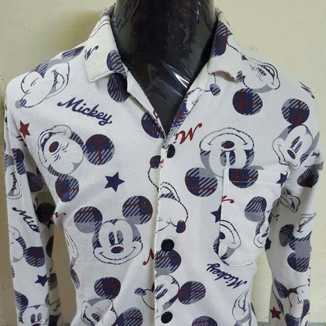 Baju tidur Mickey Mouse Full Printed, Men's Fashion, Clothes on Carousell