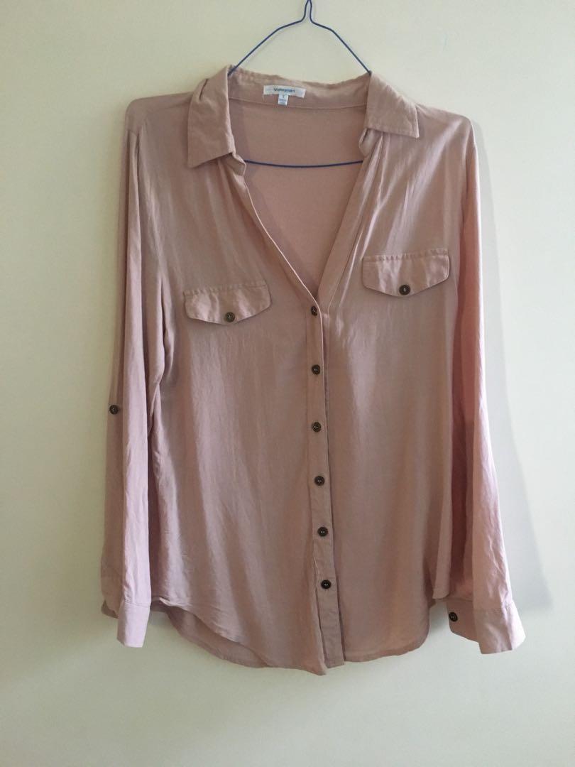 Blush pink collared shirt