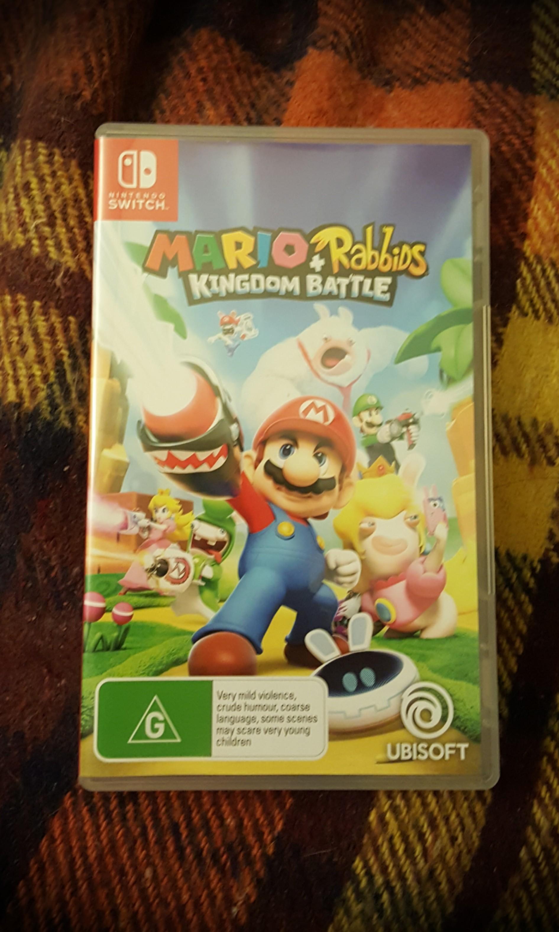 Brand New - Mario + Rabids Kingdom Battle Nintendo Switch Game