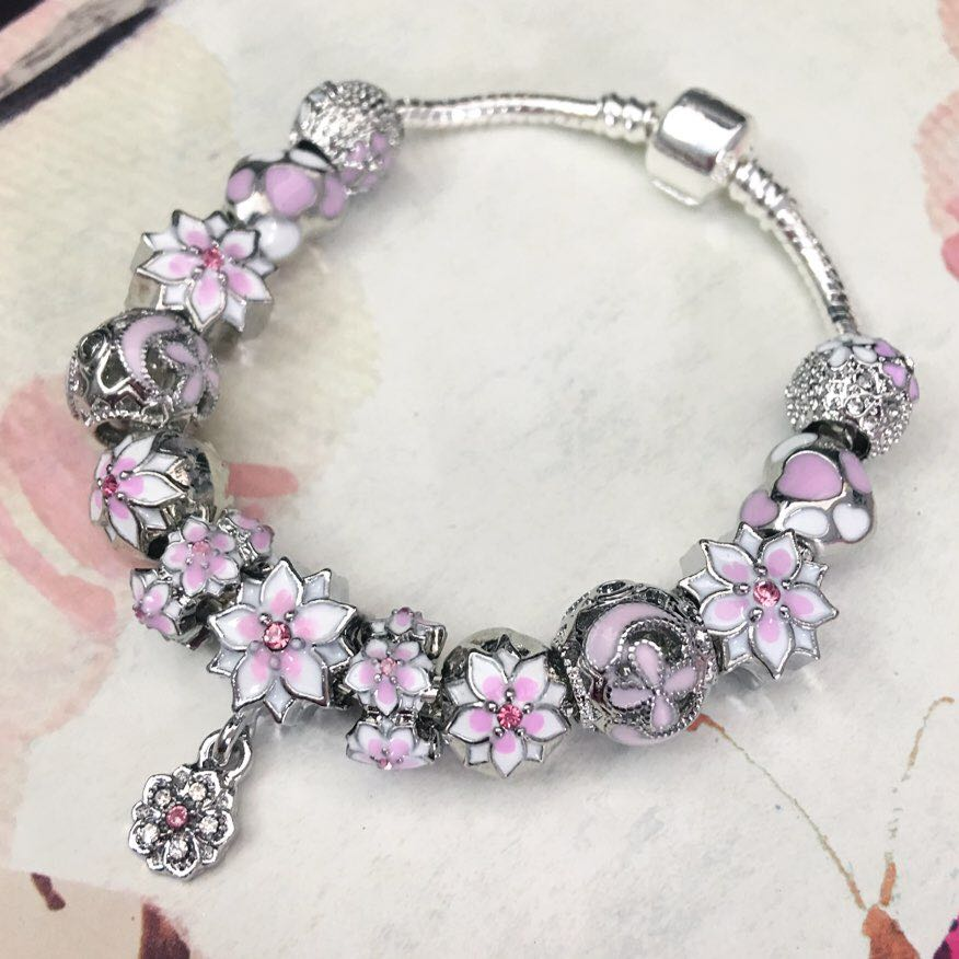 Brand New FULL Silver Charm Bracelet ! Inspired by Pandora