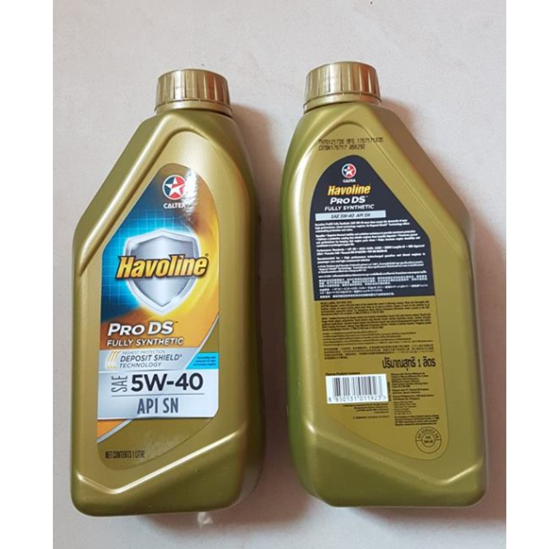 Caltex havoline prods fully synthetic le sae 5w 30 for Best non synthetic motor oil