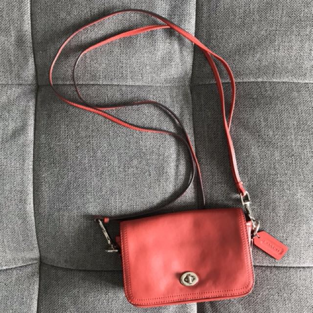 5ff8c8fac2 Coach Legacy Leather Penny Shoulder Crossbody Bag