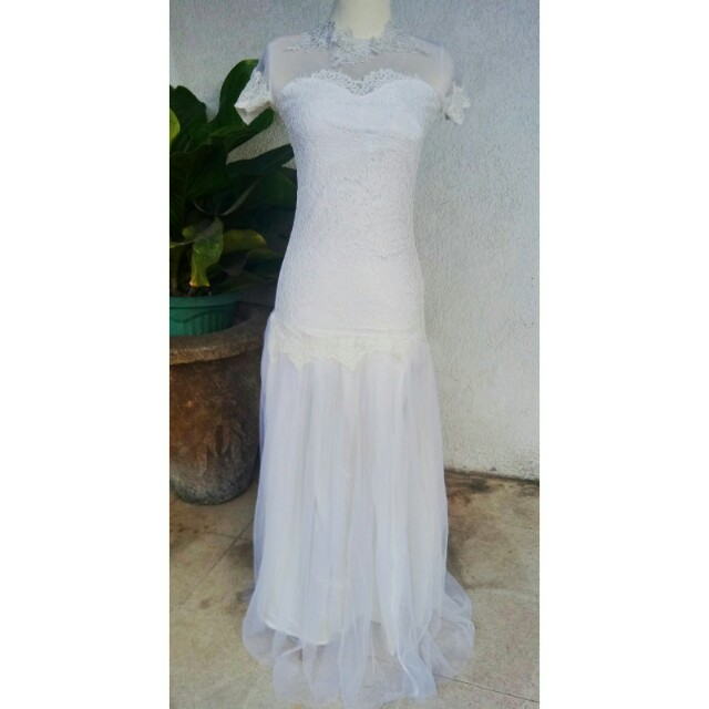 Dress Gaun Long Dress Pesta Putih Women S Fashion Women S Clothes