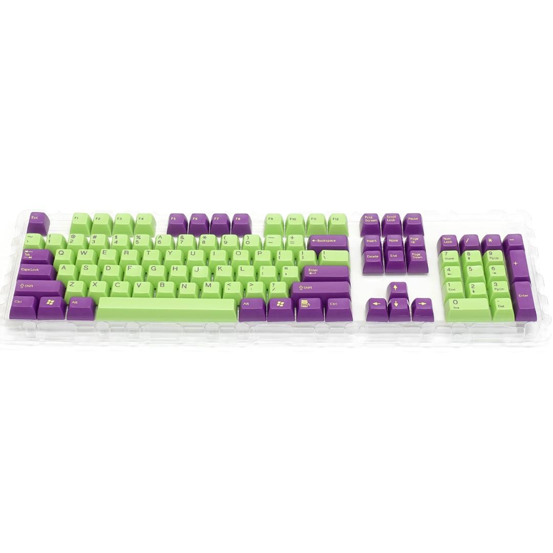 Filco SA Uniform R3 Profile keycaps (By Signature Plastic) - Green Purple
