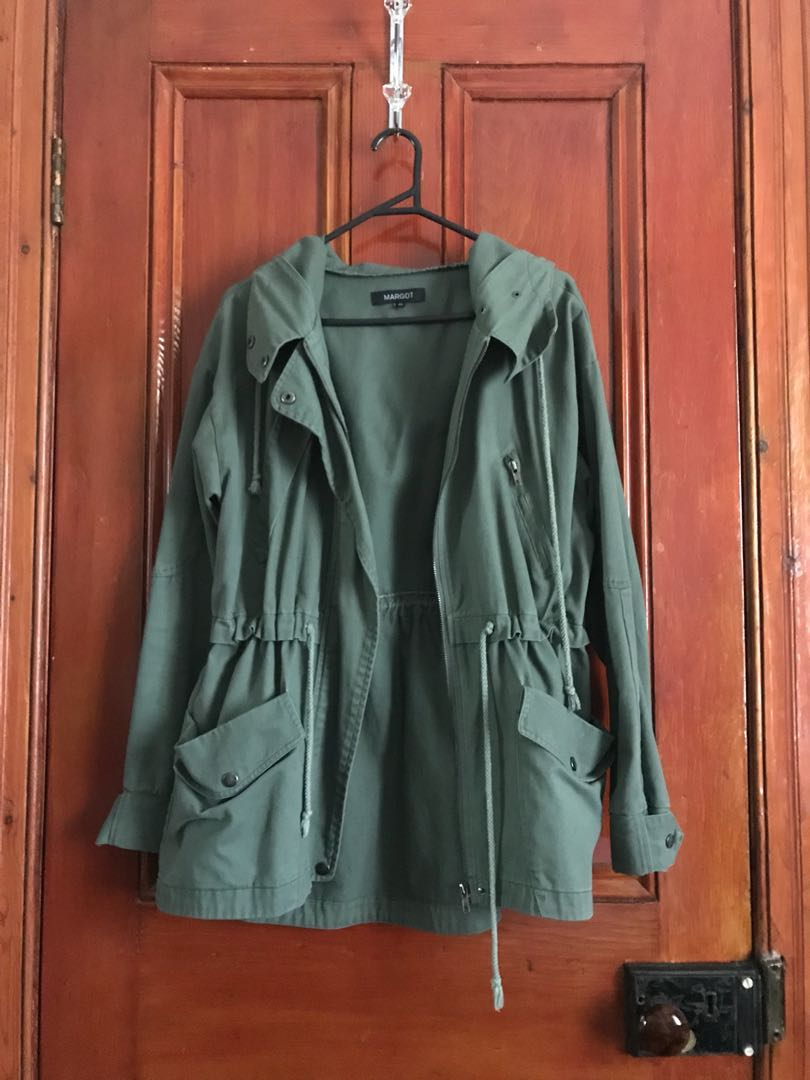 Green Parker hooded jacket