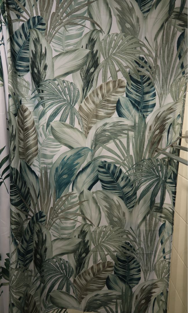 HM Shower Curtain With Leaves Design Home Furniture On Carousell