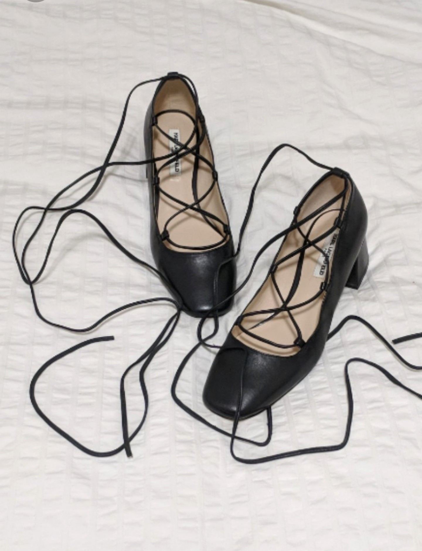 Karl Lagerfeld lace up heels