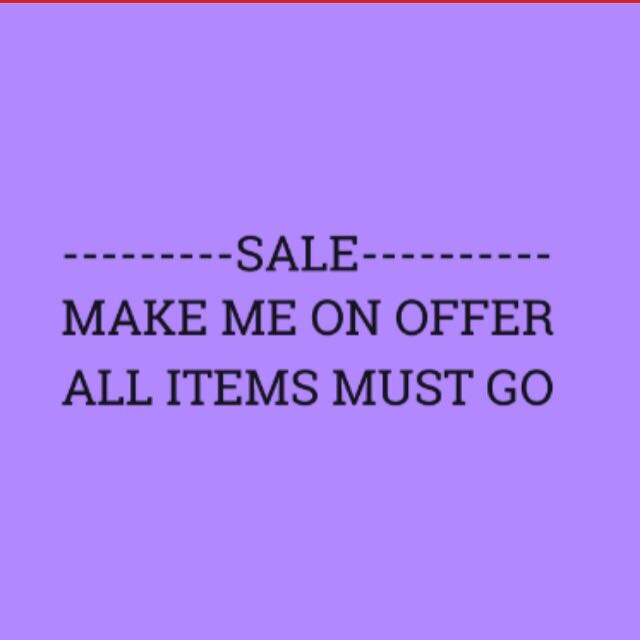 MAKE ME AN OFFER - ALL ITEMS
