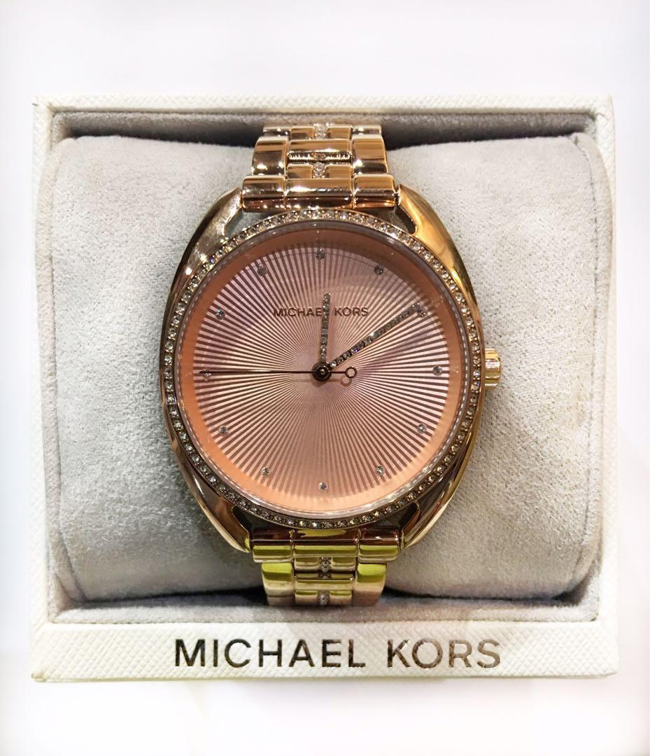 008fee106901 Michael Kors  Libby  Rose Goldtone Crystal Pave Link Bracelet Watch on  Carousell