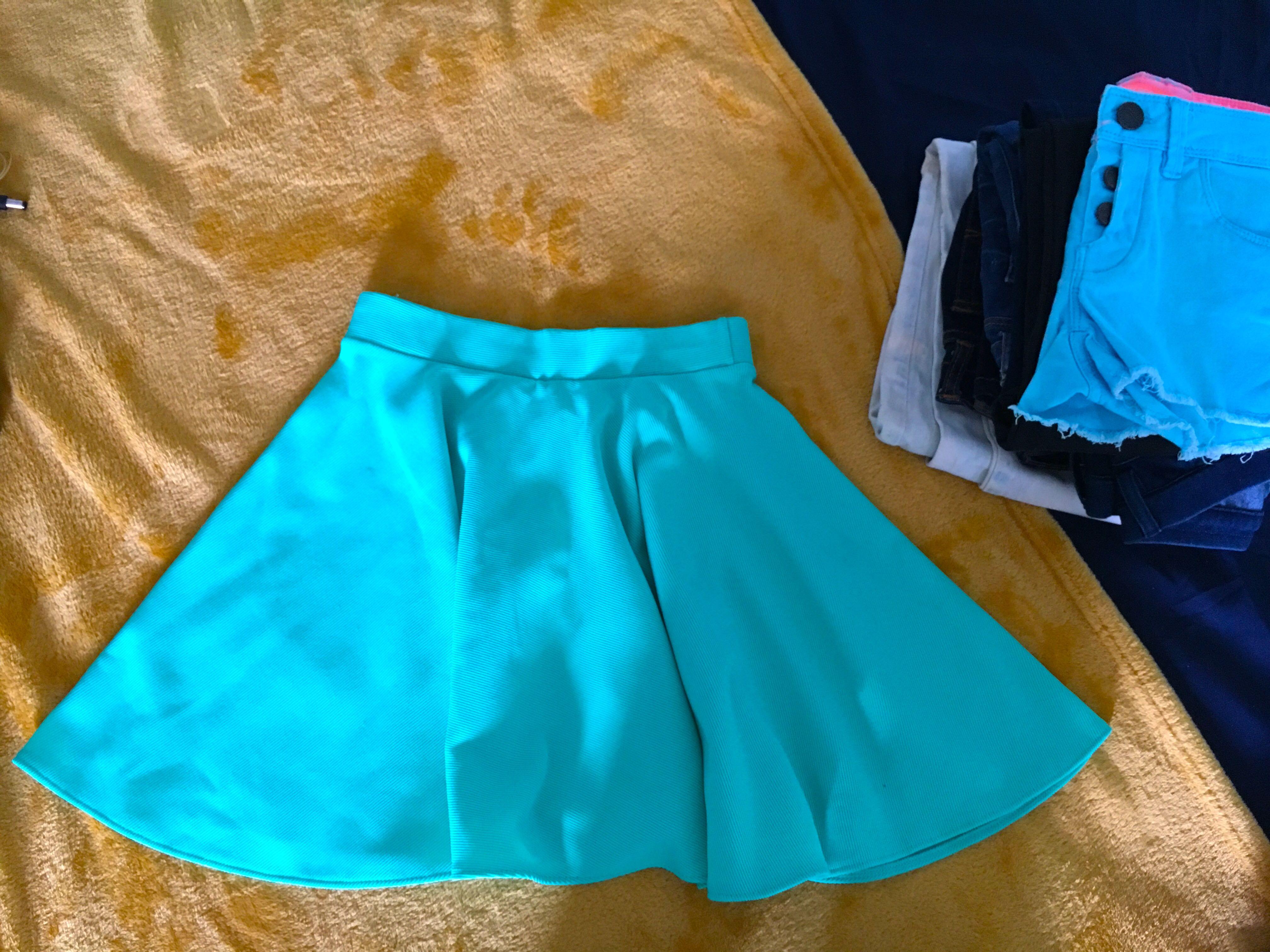 6d8324bd56b Mint green skater skirt