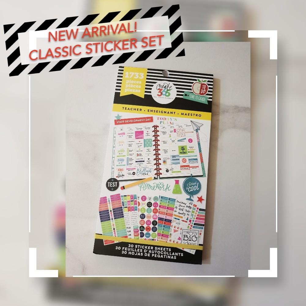 New! Classic Happy Planner Teacher Sticker Set