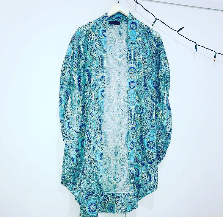 Paisley waterfall beach cover up. Brand new. One size fits all