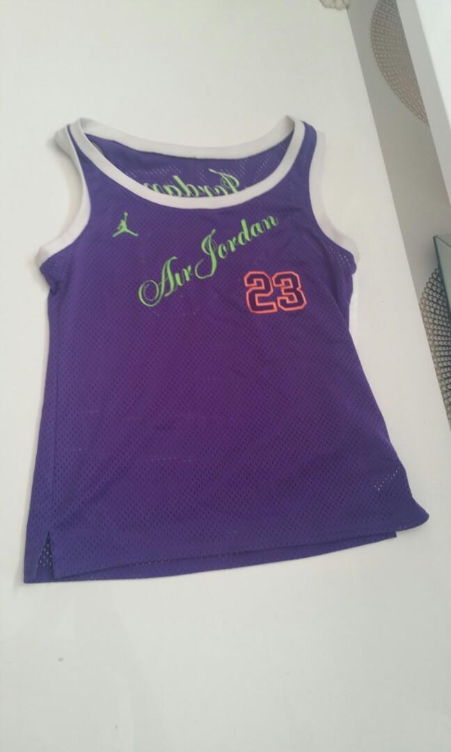 Perforated Air Jordan singlet jersey