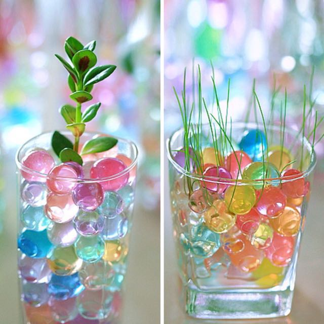 Plants Crystal Water Soil Gel Water Babies Water Beads Mail Only