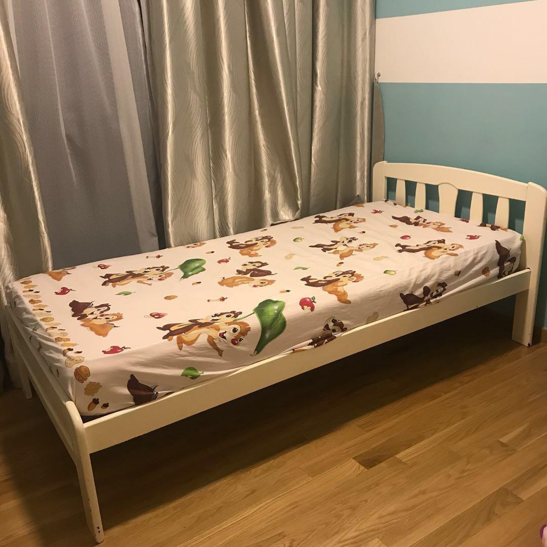 Preloved Solid Wood Bedframe & Spring Mattress