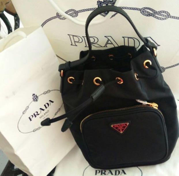 75c0c22bd6b0 ... order ready stock prada tessuto bucket bag luxury bags wallets on  carousell 03a6b 610ea