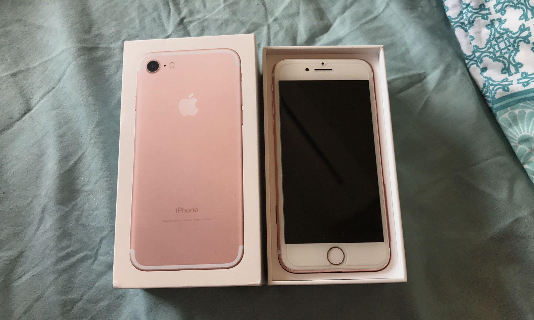 Rosegold iPhone 7 32gb