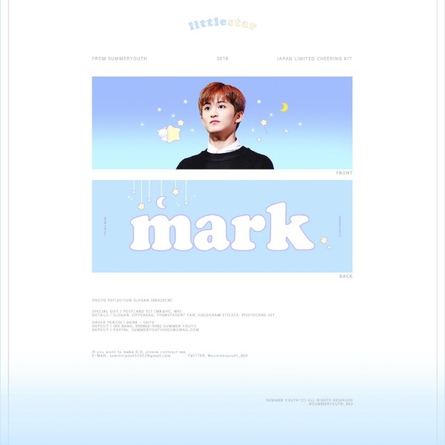 SG GO] NCT Mark 'Little Star' Japan Limited Slogan by