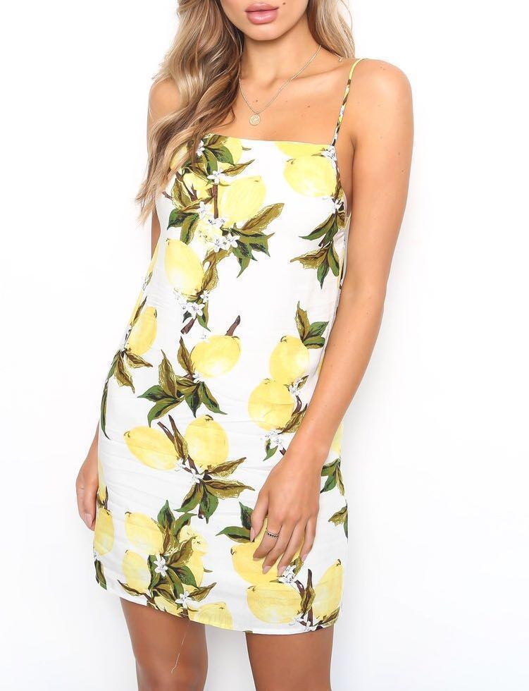 💕SOLD OUT RRP: $79.95 Lemon tree dress square halter
