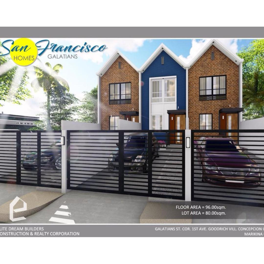 Townhouse for sale in Marikina San Francisco Dream Homes near SSS Village