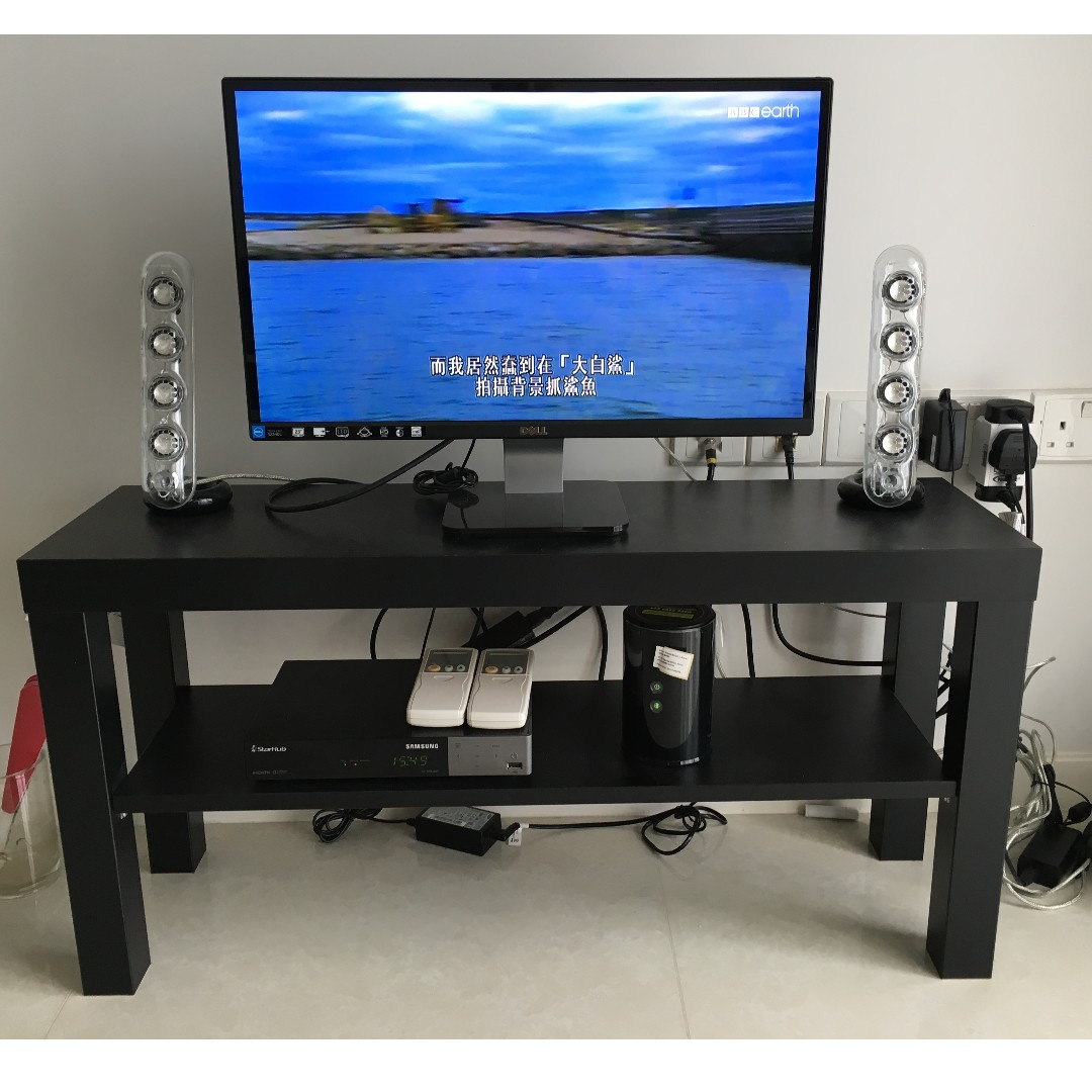 Used Ikea Lack Tv Bench Black Furniture Others On Carousell