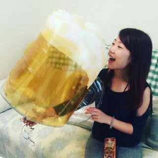 啤酒氣球 派對 道具 生日 慶功 禮物 佈置 婚禮 婚紗 聖誕節 拍照
