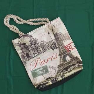 Tote Bag (Paris Eiffel Tower Print)