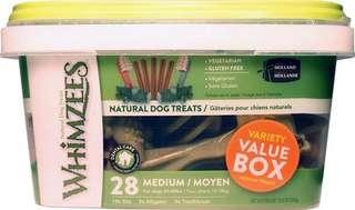Whimzees Variety Box 28 medium