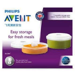 35% OFF! BNIB Philips Avent Fresh Food Storage Pots (Baby food maker)
