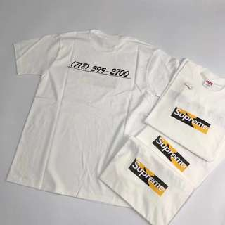 代訂 Supreme box logo tee