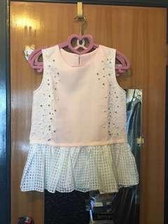 夏日 斯文系 粉紅 背心 襯衣