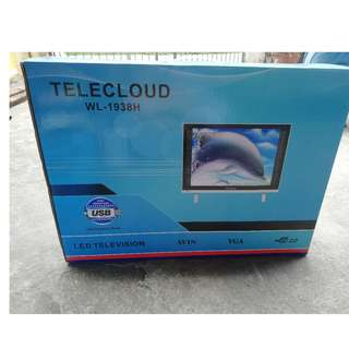 "Telecloud 19"" Ultra Slim LED Television White WL-1938H"