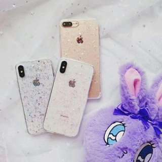 Transparent Glitter Case