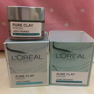 Loreal pure clay mask pore refining