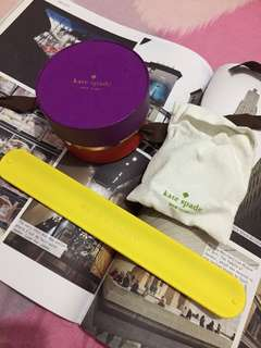 """Authentic Kate Spade """"Arm Candy"""" yellow bracelet"""
