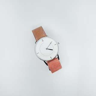 TWINWATCH - Blush Strap White Dial