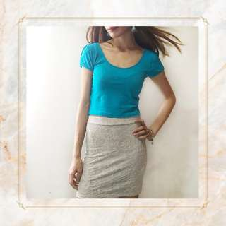 Forever 21 Blue Crop Top