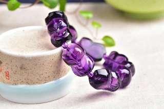 Purple crystal fox love transfer string.
