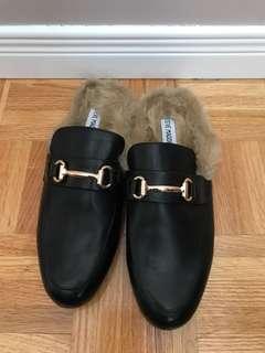 Steve Madden Jill Fur Loafer Size 9