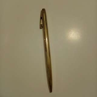 "Old SHEAFFER Ball Pen. Engraved with ""GOLD  ELECTROPLATED SHEAFFER"" in the middle."
