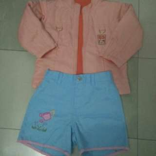 Set mickey mouse jacket and short